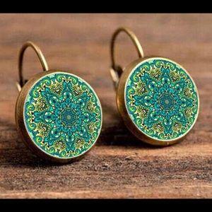 Jewelry - NEW Vintage BOHO flower geometric drop Earrings
